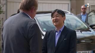 Le futur empereur du Japon en visite dans un vignoble à Santenay