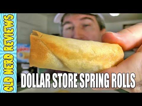 Jennifer's Garden Spring Rolls REVIEW (Eating The Dollar Stores)