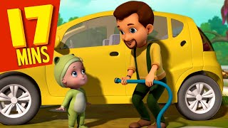 Johnny Johnny, Yes Papa - Car Wash Kids Song | New Rhymes and Baby Songs | Infobells