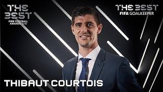 Thibaut Courtois reaction - The Best FIFA Goalkeeper 2018
