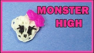 Rainbow Loom EASY: MONSTER HIGH Charm Tutorial
