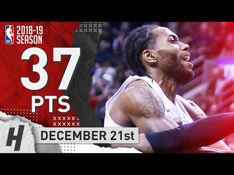 Kawhi Leonard Full Highlights Raptors vs Cavaliers 2018.12.21 - 37 Points, BEAST!
