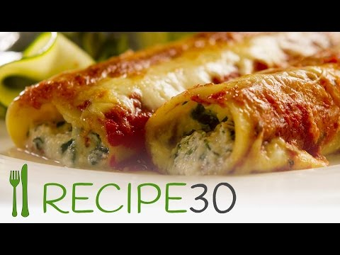 PIZZA: SPINACH AND RICOTTA CANNELLONI