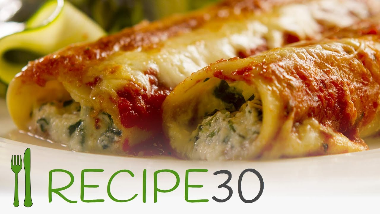 try me spinach and ricotta cannelloni by www recipe30 com youtube