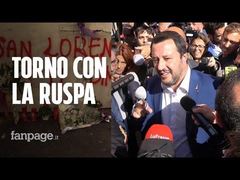 Morte Desiree Mariottini, Matteo Salvini a San Lorenzo: applausi e fischi al ministro