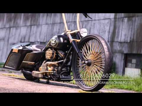 F BOMB Baggers Big Wheel Harley Bagger Builds from 2014-2015
