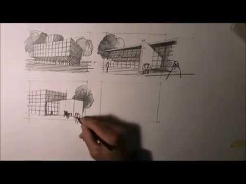 architektur zeichnen lernen 9 youtube. Black Bedroom Furniture Sets. Home Design Ideas
