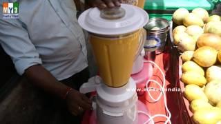 MAKING OF MANGO MILK SHAKE  HEALTHY STREET FOOD  DELHI STREET FOODS street food