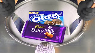 ASMR - Cadbury & OREO Ice Cream Rolls | making Dairy Chocolate and Cookies to rolled fried Ice Cream