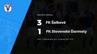 Zostrih zápasu FK Šalková - FK Slovenské Ďarmoty, 6.8.2017, 17:30