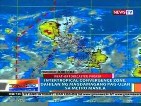 NTG: Intertropical convergence zone, dahilan ng magdamagang pag-ulan sa Metro Manila