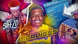 STEEZO PULLS UP ON IMDAVISSS'S 6'10 PLAYMAKER WITH NEW DRIBBLE MOVES! SOMEBODY GOT EXPOSED! NBA 2K18