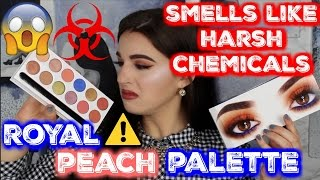 toxic chemical smell kylie royal peach palette brutally honest review   jordan byers