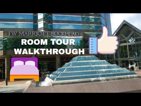 JW Marriot Buckhead Atlanta Hotel Room Tour Walk Through | WHERE TO STAY IN BUCKHEAD