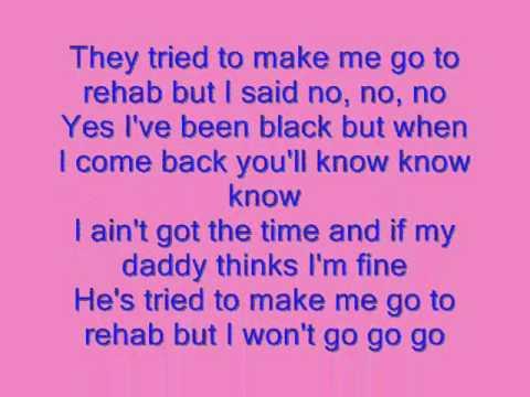 Glee Rehab Lyrics