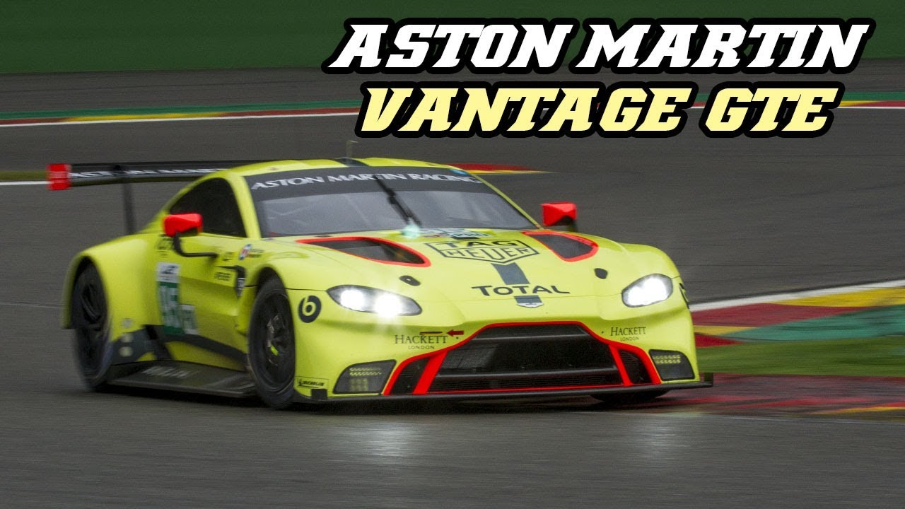 Aston Martin Vantage Gte V8 Turbo Sounds Spa Test 2018 Youtube