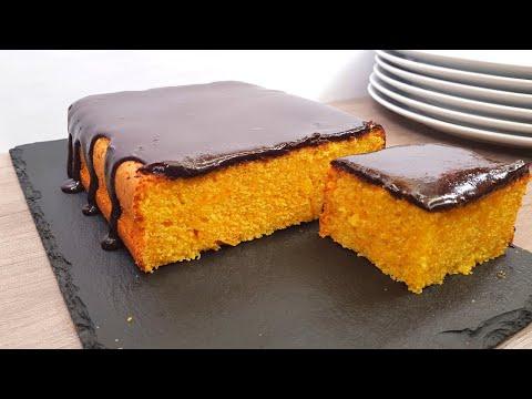 Mira que fácil se prepara este Bizcocho de Zanahoria y Chocolate! Receta MyCook #101