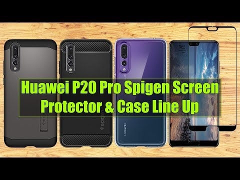 super popular ac19f 1629d Huawei P20 Pro Spigen Glass Screen Protector & Case Line Up - YouTube