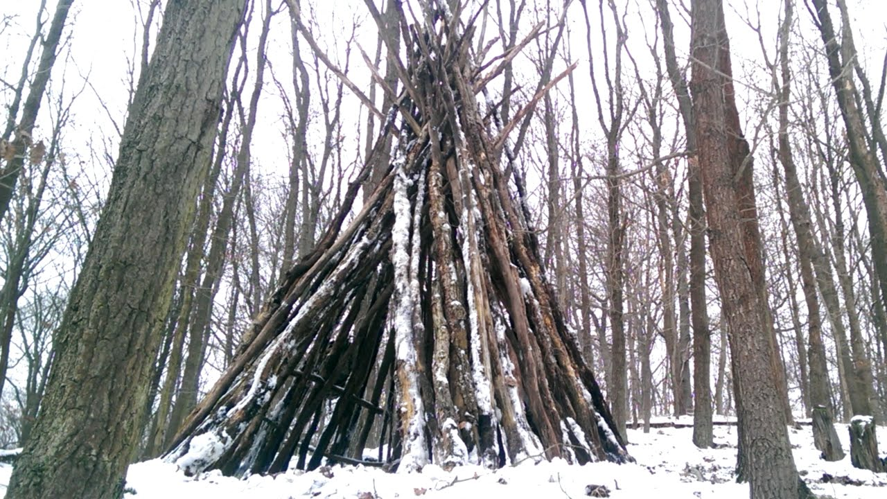 Extrem Bushcraft Tipi bauen - YouTube NS73