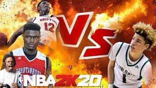 NBA 2K20 LAMELO BALL VS ZION WILLIAMSON!! HIGH SCHOOL EDITION!!