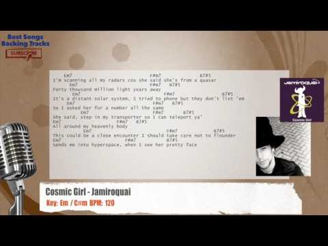 Cosmic Girl - Jamiroquai Vocal Backing Track with chords and lyrics