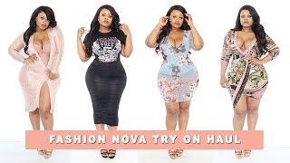Plus size   Curvy Girl Fashion Nova Try On Haul   Edee Beau