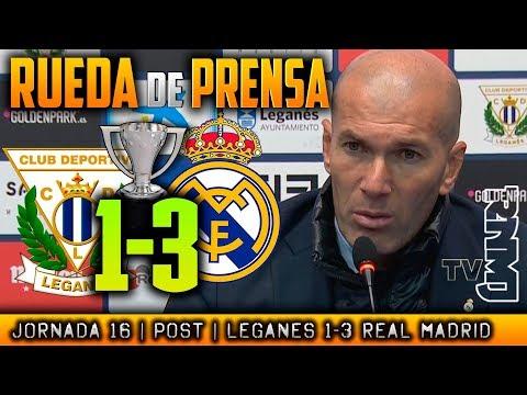 Rueda de prensa de Zidane post Leganés 1-3 Real Madrid