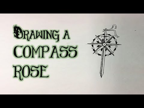 How to Draw A Compass Rose (For a Fantasy Map)