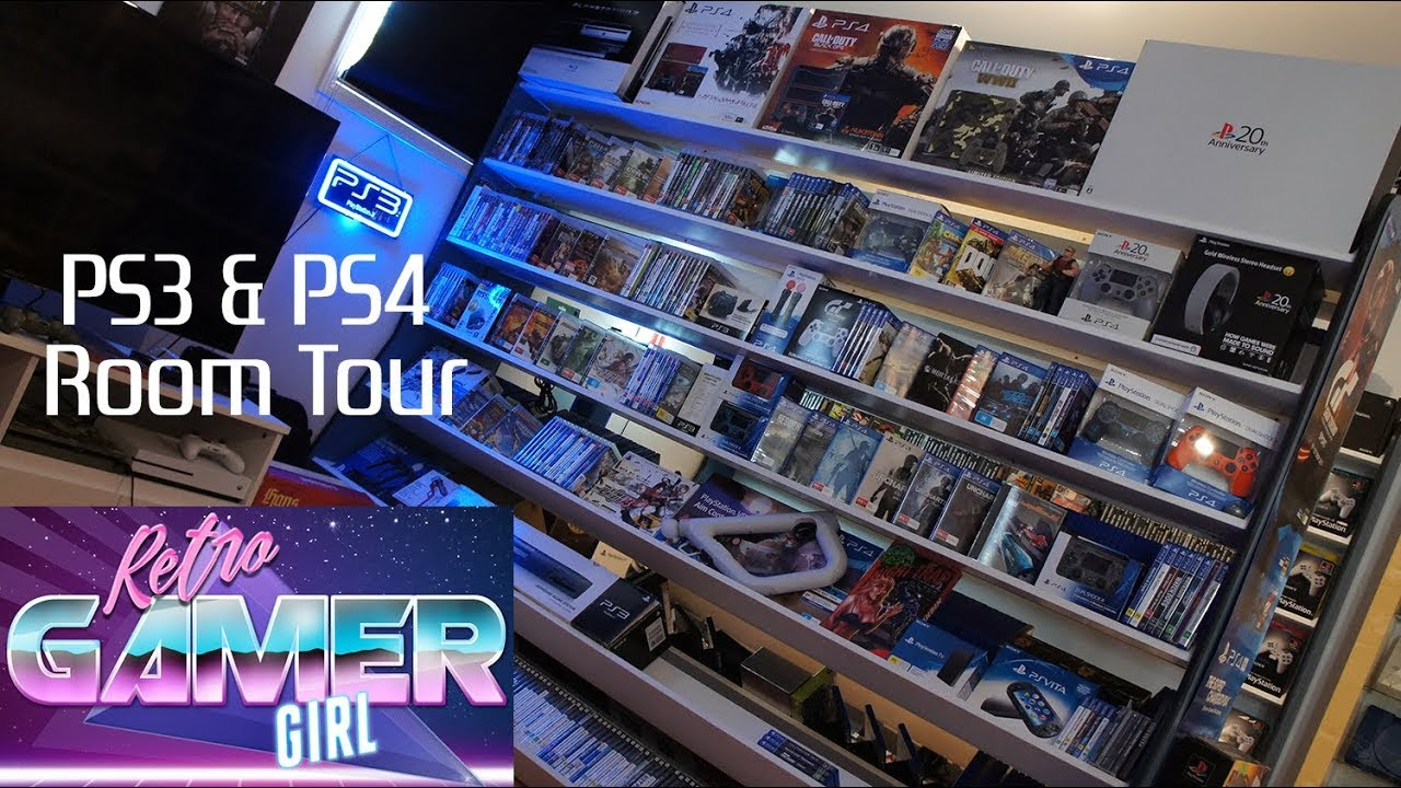 PS3 & PS4 Room Tour Game Collection PlayStation | Retro Gamer Girl
