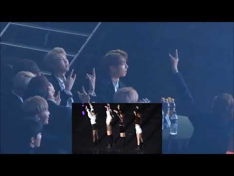 BTS Jungkook reaction to BlackPink (So Hot @SBS Gayo Daejun 2017)