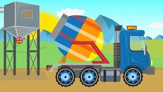 Construction Machines for Kids - Concrete mixer and pool construction | Maszyny budowlane