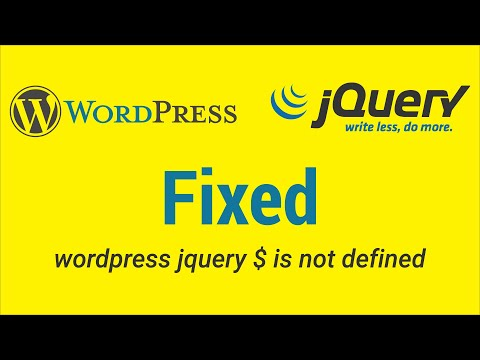 Fixed: Wordpress Jquery $ Is Not Defined