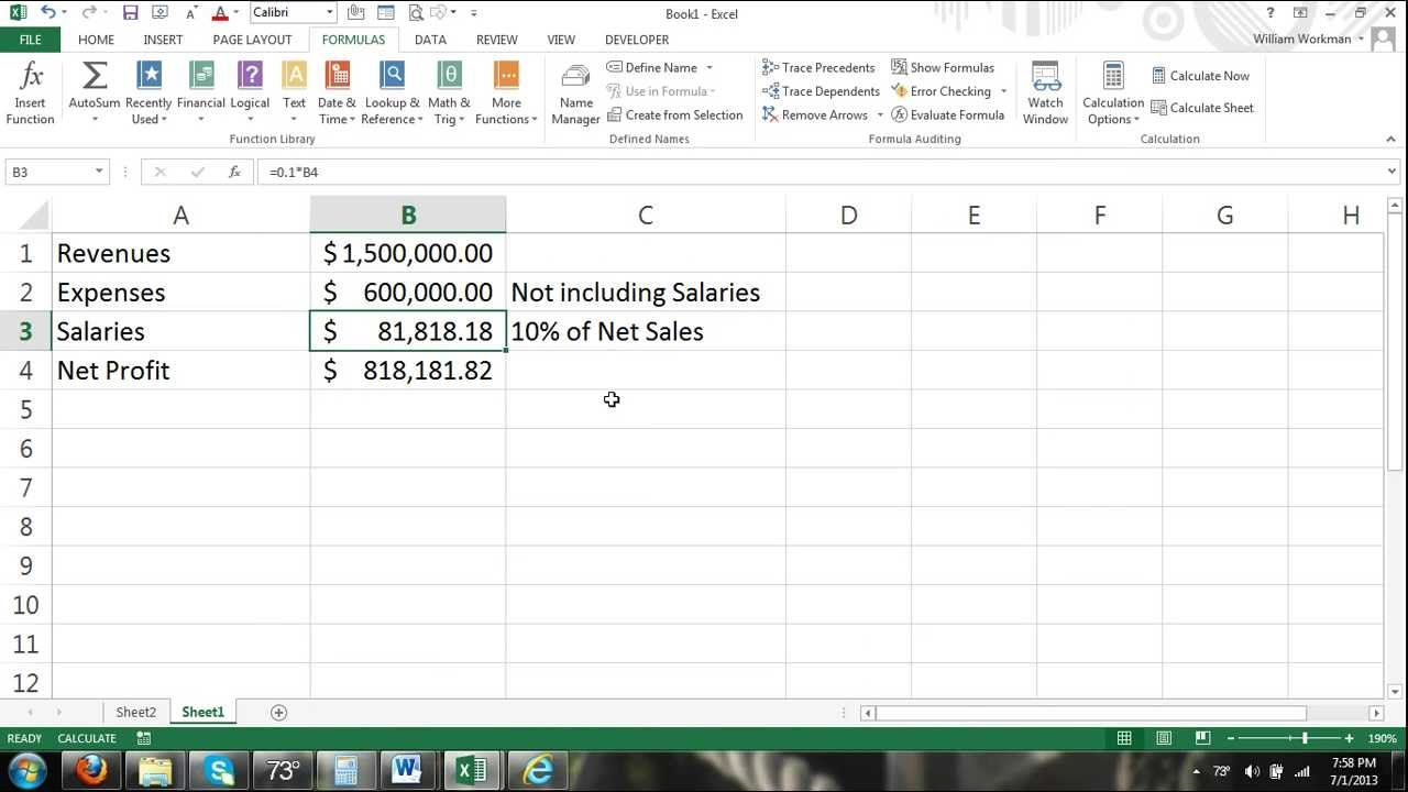 Excel Tutorial Circular Reference & Iterations   How to Fix Circular  Reference Formulas 20 20