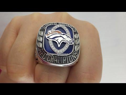 Denver Broncos Replica 2013 AFC Ring,Custom Your own Broncos Fan Ring