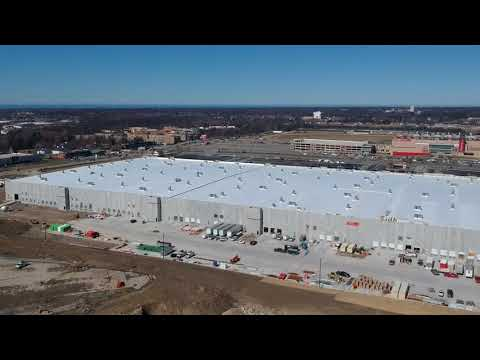 Checking out the new Amazon Fulfillment Center in North Randall, Ohio.  DJI Spark Drone