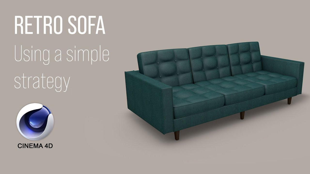 Cinema 4D Tutorial: Retro Sofa