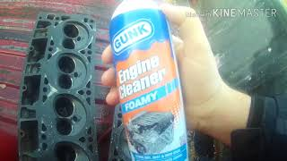 Cleaning cylinder heads with diesel fuel at the car wash, does it work?