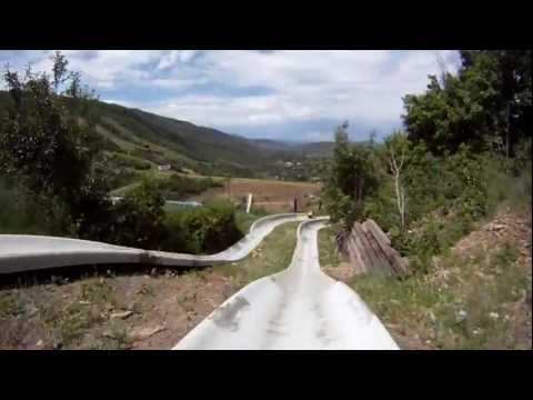 Zip Line, Alpine Coaster, Alpine Slide - Park City, Utah (GoPro HD)
