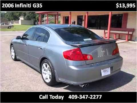 2006 infiniti g35 used cars beaumont tx youtube for 11th street motors beaumont tx