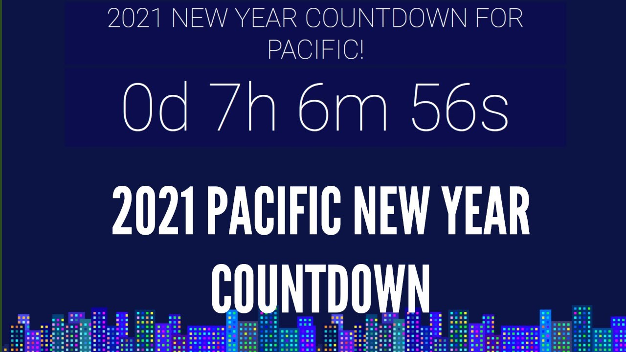 new years countdown timer pst