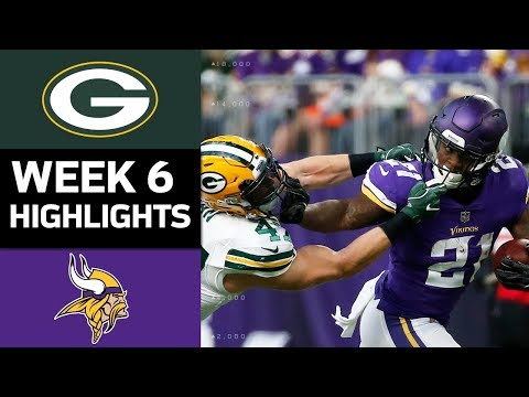 Packers vs. Vikings | NFL Week 6 Game Highlights