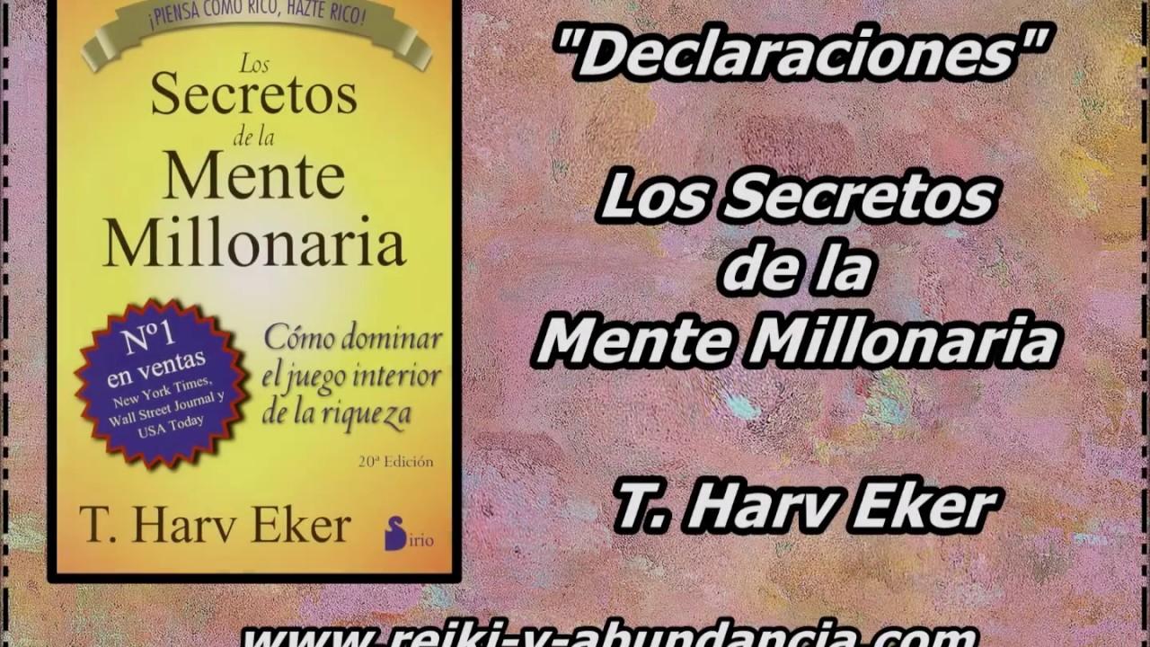 Los secretos de la mente millonaria declaraciones t harv eker frases