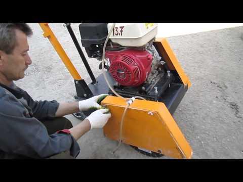 Видеоинструкция для нарезчика швов с бензоприводом