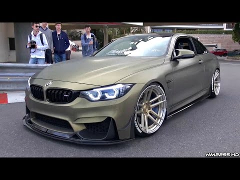 Stanced BMW M4 F82 with LOUD Fi-Exhaust Making Some Noise in Monaco!