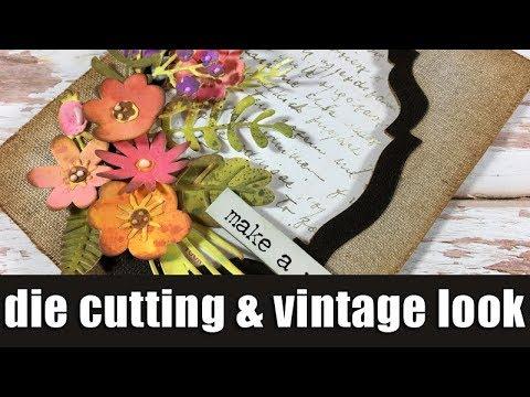 Die cutting floral