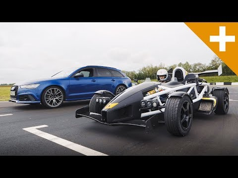 Audi RS6 vs Ariel Atom Drag Race - Carfection +