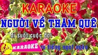 Người Về Thăm Quê Karaoke || Beat Chuẩn