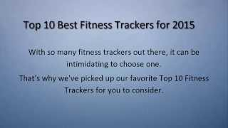 top 10 best fitness trackers 2015   heart rate monitor wearables