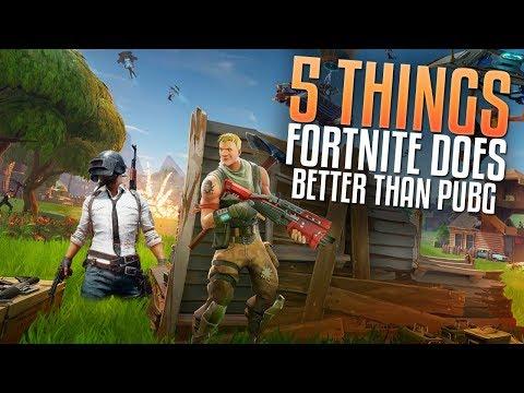 5 Things FortNite Does Better Than PUBG (FortNite Vs. PUBG)