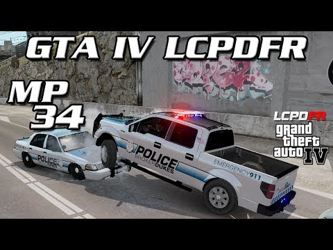 GTA IV LCPDFR MP #34 - Spawned a Barrier on My Car
